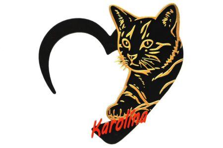 Jmenovka na dveře - kočka